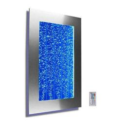 """300WM 30"""" Wall Mount Bubble Wall LED Indoor Fountain Water F"""