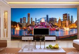 3D City Fountain 903 Wall Paper Wall Print Decal Wall Deco I