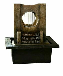 San Miguel Edgewater Tabletop Water Fountain Decor Brand New
