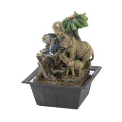 Elephant Family Indoor Electric Tabletop Fountain - Animal D