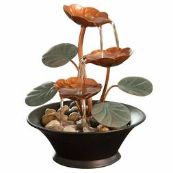 Small In Door Water Lily Fountain Floral Table Top Cascade D