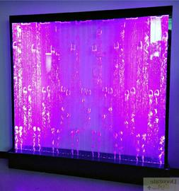 """Fountain Bubble Wall Panel 79"""" Sq Color LED Lights Restauran"""