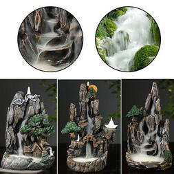 Fountain Stone Tower Water Forest  Light Indoor Decor For Ho