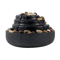 Homedics Impression Relaxation Tabletop Fountain, Black