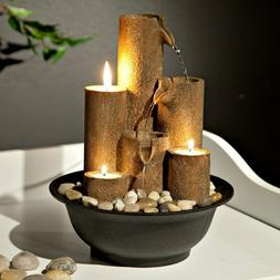 Indoor Fountain Tabletop Mini Miniature Home Decor Candles Z