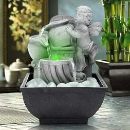 AMPLE Indoor USB Relaxation Desktop/Tabletop Fountain with L