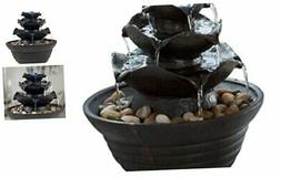 Indoor Water Fountain With LED Lights- Lighted Three Tier So