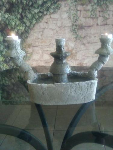 indoor outdoor candle holder cement water fountain