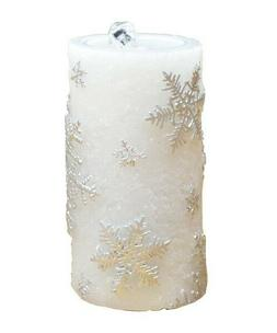 Gift Essentials LED Snowflake White Wax Candle Fountain GECF