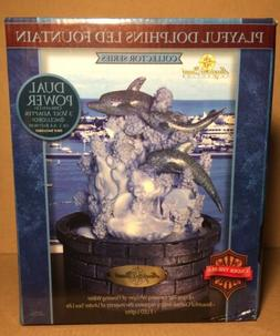 Playful Dolphins LED Fountain Sea Life Add Water For Soothin
