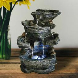 Resin Decorative Fountains Indoor Water Fountains Craft Desk