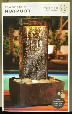 Order Home Collection Slate Tower Fountain New In Box