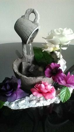 Indoor cement- table top water fountain(9 volt battery