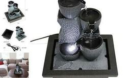 WICHEMI Tabletop Water Fountains Indoor Waterfall and Calmin